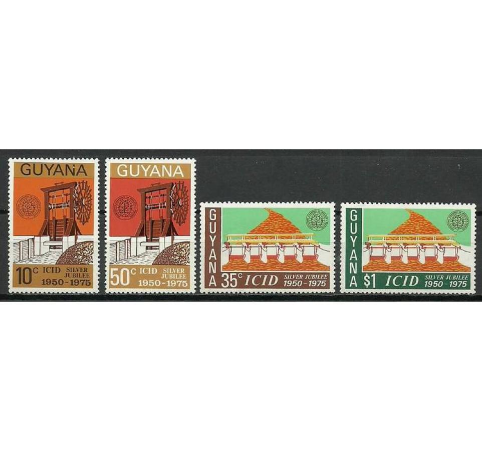 Gujana 1975 Mi 477-480 Czyste **