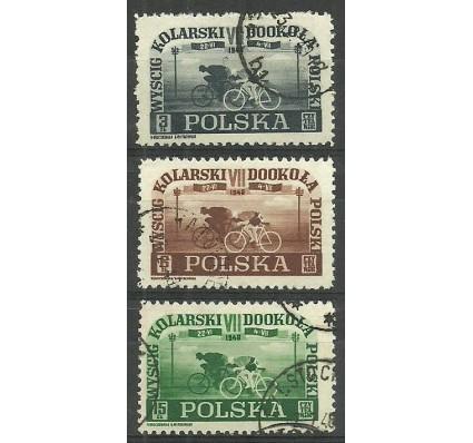 Znaczek Polska 1948 Mi 487-489 Fi 456-458 Stemplowane