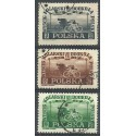 Polska 1948 Mi 487-489 Fi 456-458 Stemplowane