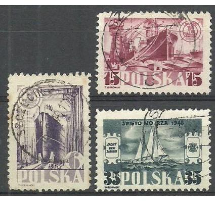 Znaczek Polska 1948 Mi 490-492 Fi 459-461 Stemplowane