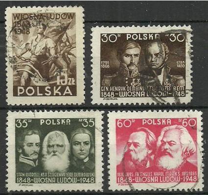 Znaczek Polska 1948 Mi 497-500 Fi 450-453 Stemplowane