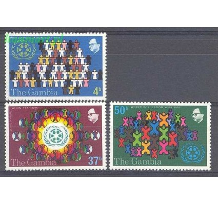 Gambia 1974 Mi 300-302 Czyste **