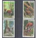 Kongo Kinszasa / Zair 1984 Mi 875-878 Czyste **