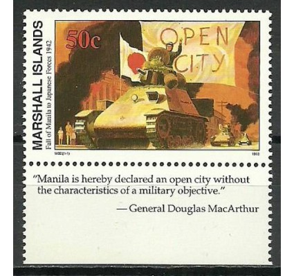 Znaczek Wyspy Marshalla 1992 Mi 396 Czyste **