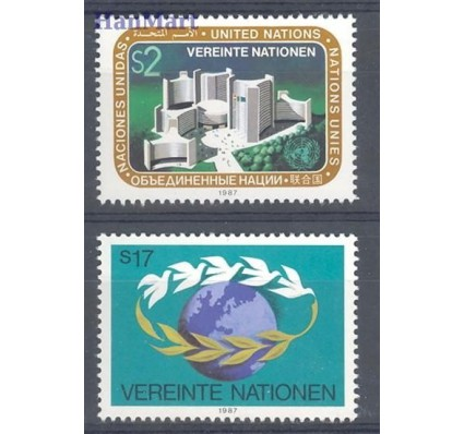 Znaczek Narody Zjednoczone Wiedeń 1987 Mi 73-74 Czyste **