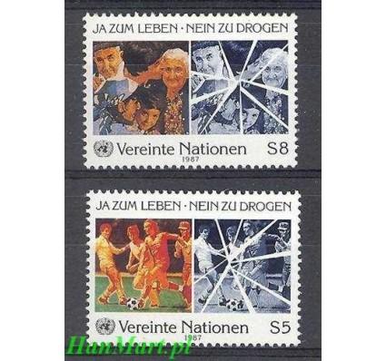 Znaczek Narody Zjednoczone Wiedeń 1987 Mi 71-72 Czyste **