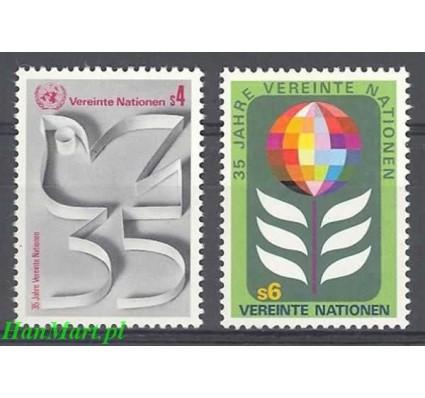 Znaczek Narody Zjednoczone Wiedeń 1980 Mi 12-13 Czyste **