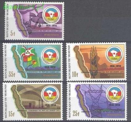 Znaczek Burundi 1987 Mi 1688-1692 Czyste **