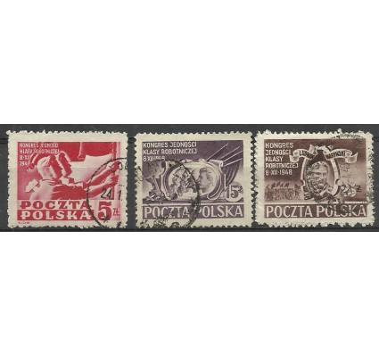 Znaczek Polska 1948 Mi 505-507 Fi 479-481 Stemplowane