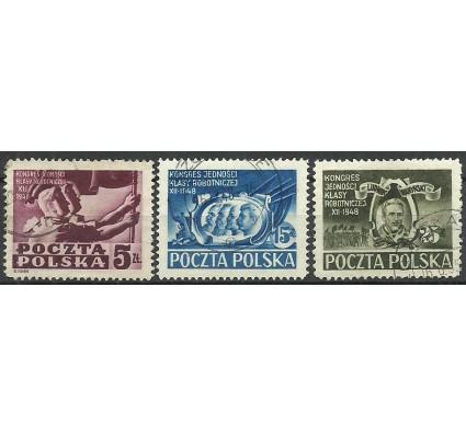 Znaczek Polska 1948 Mi 508-510 Fi 482-484 Stemplowane