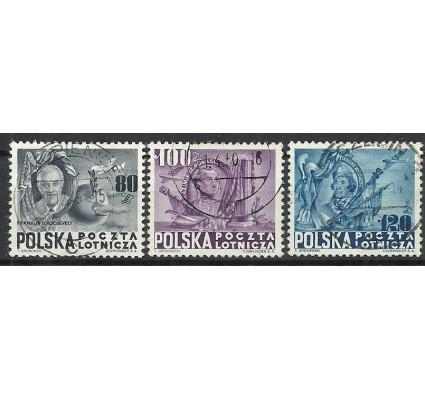 Znaczek Polska 1948 Mi 515-517 Fi 489-491 Stemplowane
