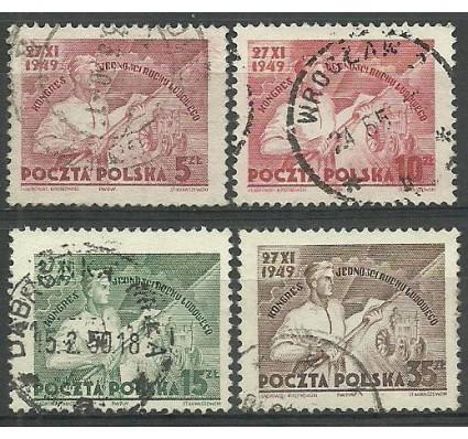Znaczek Polska 1949 Mi 539-542 Fi 501-504 Stemplowane