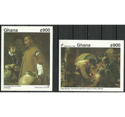 Znaczek Ghana 1992 Mi bl 197-198B Czyste **