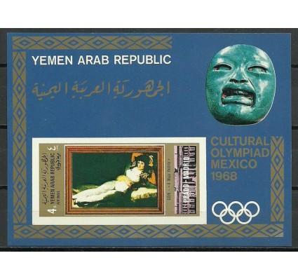 Znaczek Jemen Północny 1969 Mi bl 97 Czyste **
