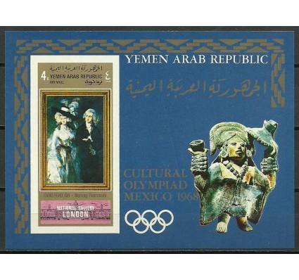 Znaczek Jemen Północny 1969 Mi bl 114Bb Czyste **