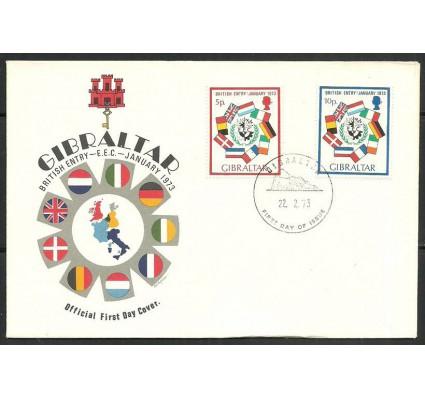 Znaczek Gibraltar 1973 Mi 297-298 FDC