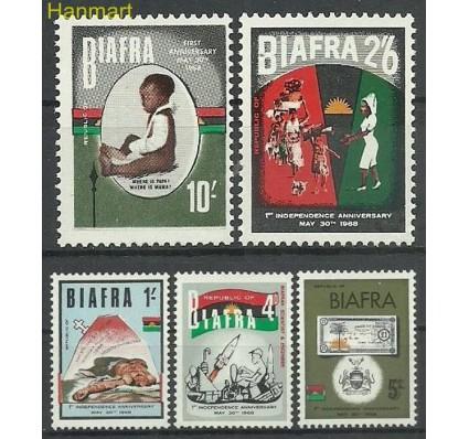 Znaczek Biafra 1968 Mi 17-21 Czyste **