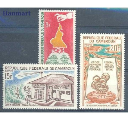 Znaczek Kamerun 1965 Mi 430-432 Czyste **