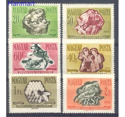 Znaczek Węgry 1958 Mi 1513-1518 Czyste **