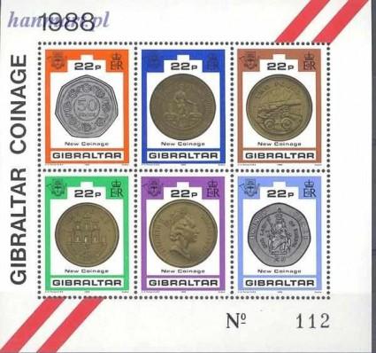 Znaczek Gibraltar 1989 Mi bl 14 Czyste **