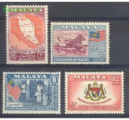 Znaczek Malaya 1957 Mi 1-4 Czyste **