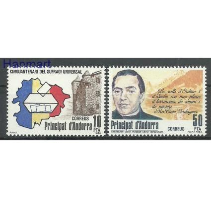 Znaczek Andora Hiszpańska 1983 Mi 168-169 Czyste **