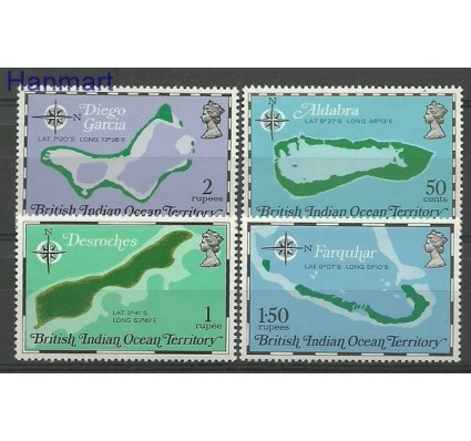 Znaczek Brytyjskie Terytorium Oceanu Indyjskiego 1975 Mi 82-85 Czyste **