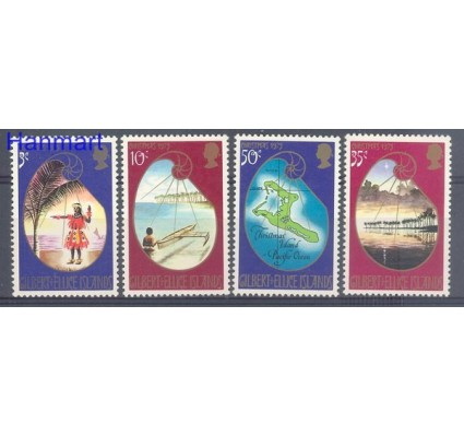 Znaczek Gilbert Ellice Islands 1973 Mi 207-210 Czyste **