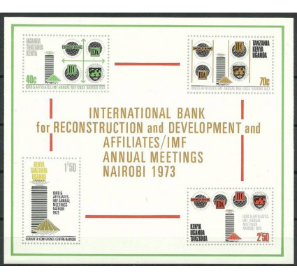 Znaczek Kenia Uganda Tanganyika 1973 Mi bl 4 Czyste **