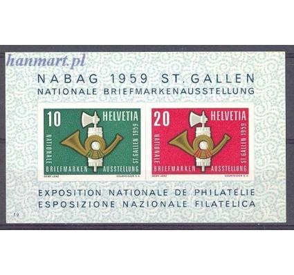 Znaczek Szwajcaria 1959 Mi bl 16 Z podlepką *