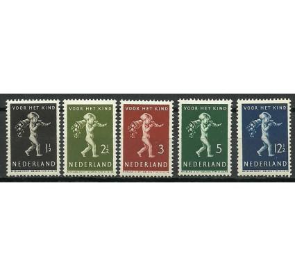 Znaczek Holandia 1939 Mi 336-340 Z podlepką *