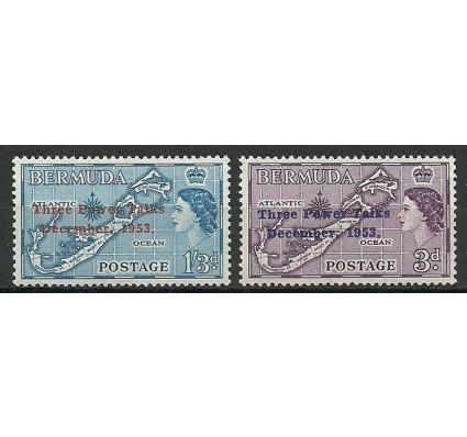 Znaczek Bermudy 1953 Mi 149-150 Czyste **