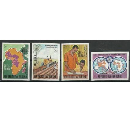 Znaczek Burundi 1969 Mi 480-483B Czyste **