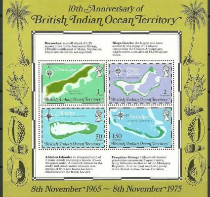Znaczek Brytyjskie Terytorium Oceanu Indyjskiego 1975 Mi bl 2 Czyste **