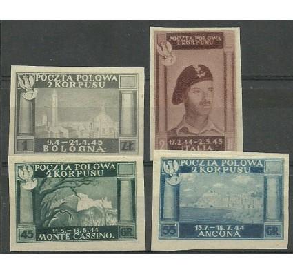 Znaczek Polska 1946 Mi 1-4A Czyste **