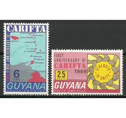 Znaczek Gujana 1969 Mi 353-354 Czyste **