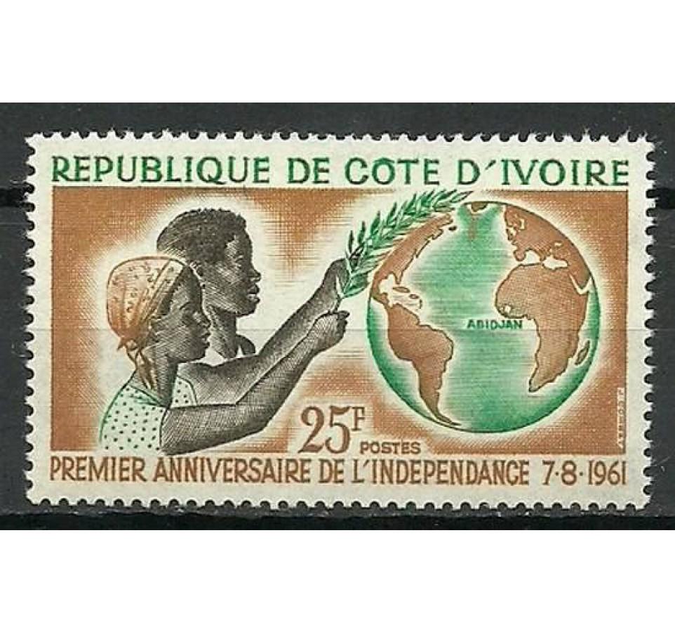 Wybrzeże Kości Słoniowej 1961 Mi 222 Czyste **