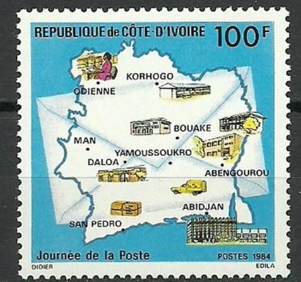 Znaczek Wybrzeże Kości Słoniowej 1984 Mi 834 Czyste **