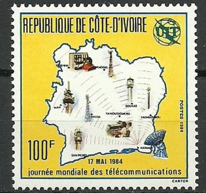 Znaczek Wybrzeże Kości Słoniowej 1984 Mi 819 Czyste **