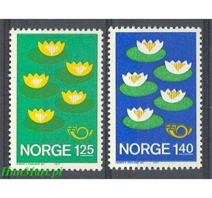Znaczek Norwegia 1977 Mi 737-738 Czyste **