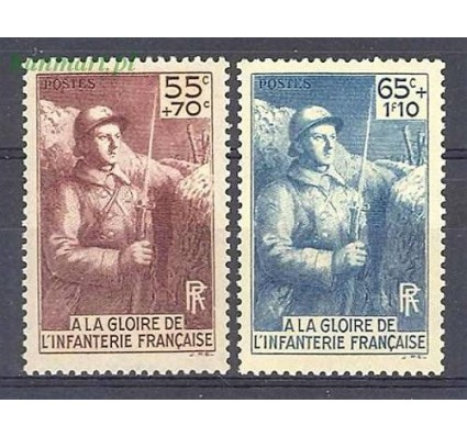 Znaczek Francja 1938 Mi 423-424 Czyste **