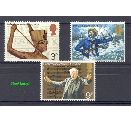Znaczek Wielka Brytania 1972 Mi 594-596 Czyste **
