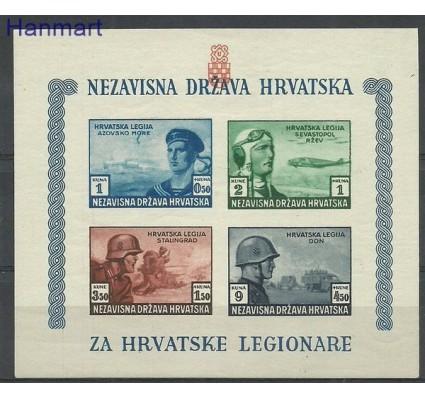 Znaczek Chorwacja 1943 Mi bl 5B Czyste **
