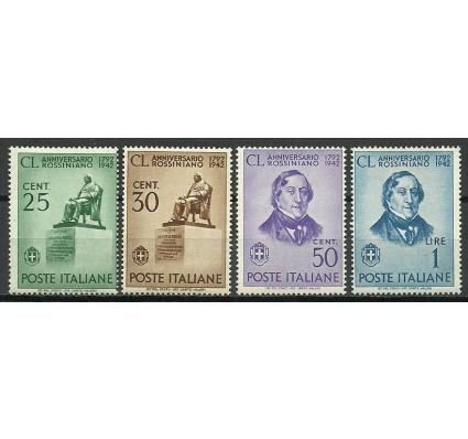 Znaczek Włochy 1942 Mi 638-641 Z podlepką *