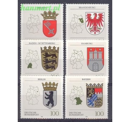 Niemcy 1992 Mi 1586-1591 Czyste **