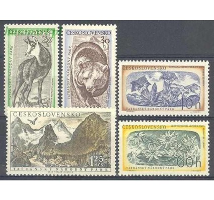 Znaczek Czechosłowacja 1957 Mi 1035-1039 Czyste **