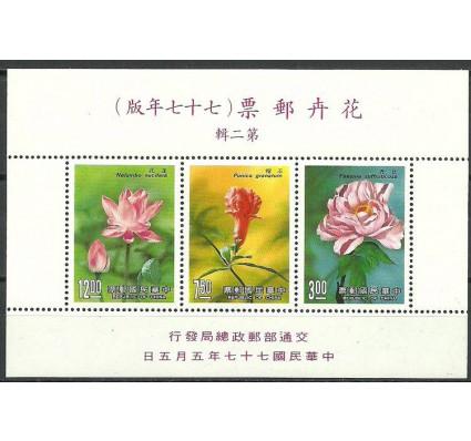 Znaczek Tajwan 1988 Mi bl 39 Czyste **