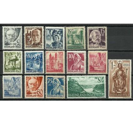 Znaczek Rheinland-Pfalz 1947 Mi 1-15 Czyste **