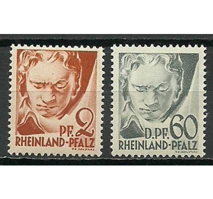 Znaczek Rheinland-Pfalz 1948 Mi 16+27 Czyste **