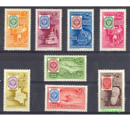 Znaczek Kolumbia 1959 Mi 884-891 Czyste **